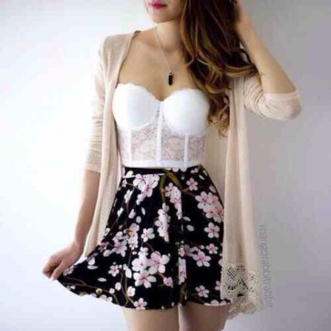 kvb71y-l-610x610-dress-white-lace-bra-bralette-lacy-cute-teen-tumblr-girl-summer-spring-autumn-fall-winter-fashion-style-beach-party-warm-sun-sunny-cool-skirt-black-flowers-floral-pattern-print-car