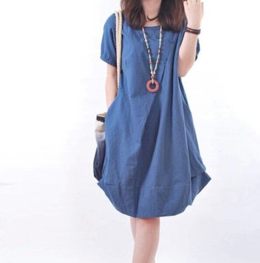 new-fashion-summer-style-cotton-linen-short-sleeve-plus-size-women-casual-vestidos-femininos-loose-dress